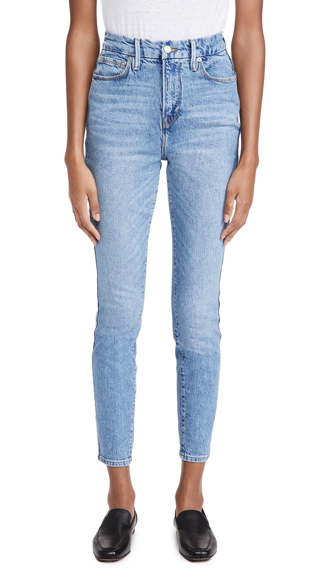 Good American Good Curve Skinny Deco Yoke Jeans