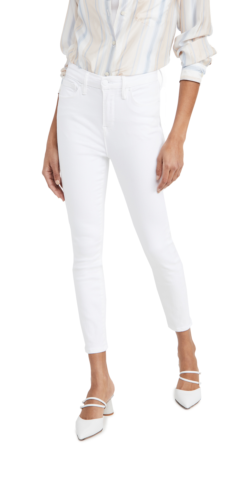 Good American Good Waist Crop Extreme V Jeans