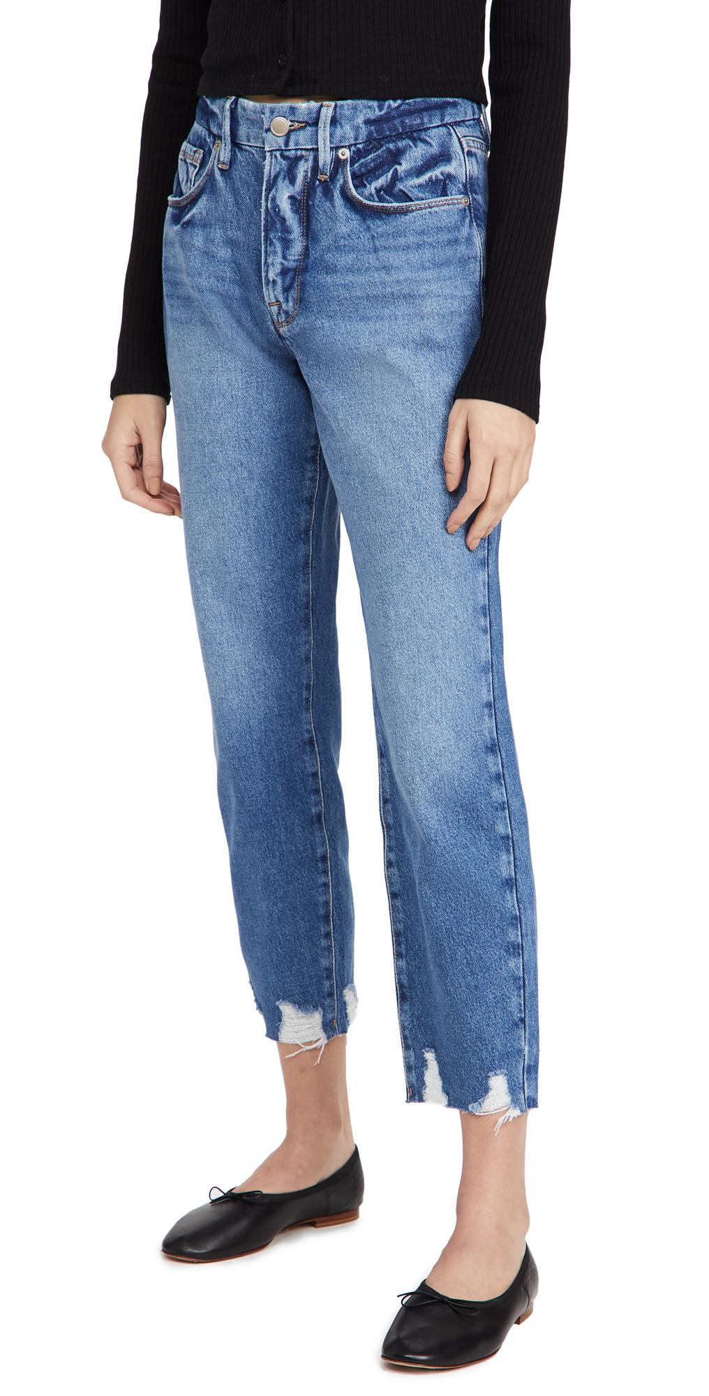 Good American Good Chewed Hem Jeans
