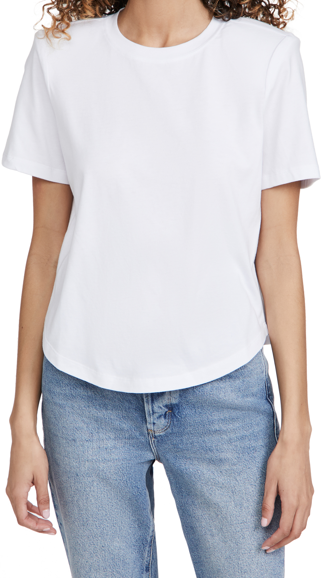 Good American Cottons STRONG SHOULDER TEE