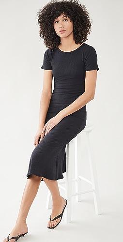 Good American - Ribbed Midi Dress