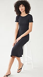 Good American Ribbed Midi Dress
