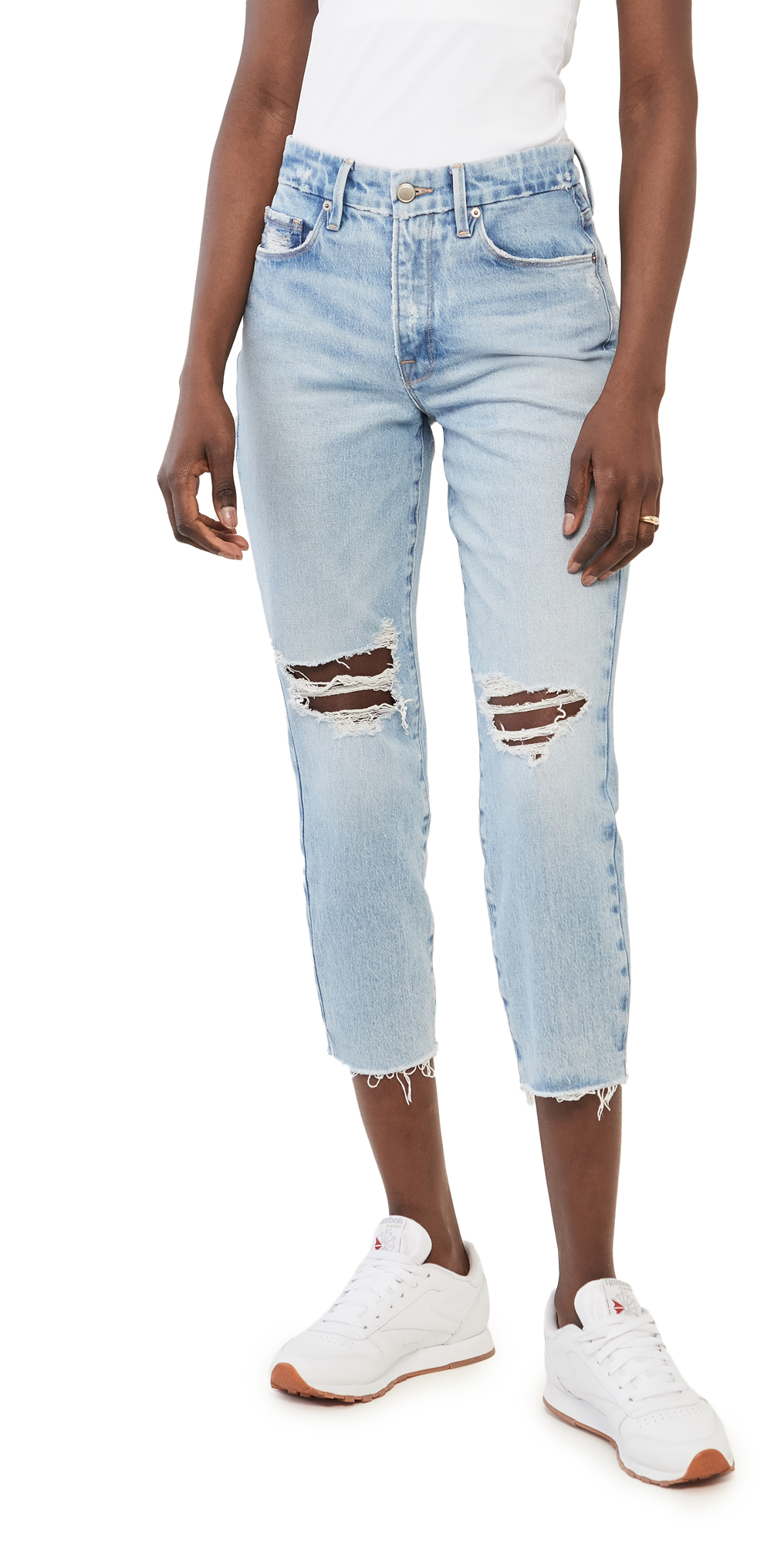 Good American Good Girlfriend Jeans