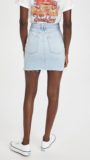 Good American Denim Miniskirt