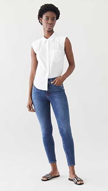 Good American Good Legs Crop Extreme V Jeans