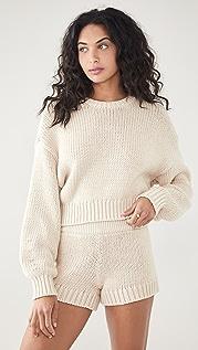 Good American Chunky Oversized Crew Sweater