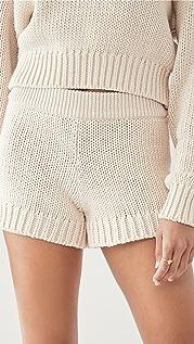 Good American Chunky Sweater Shorts