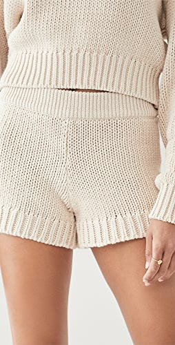 Good American - Chunky Sweater Shorts