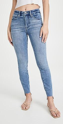 Good American - Good Legs Raw Step Hem Jeans