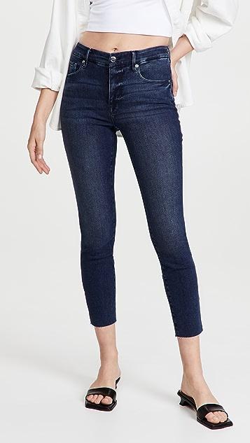 Good American Good Legs Crop Raw Hem Jeans