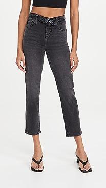Good American Good Vintage Fold Over Waist Jeans