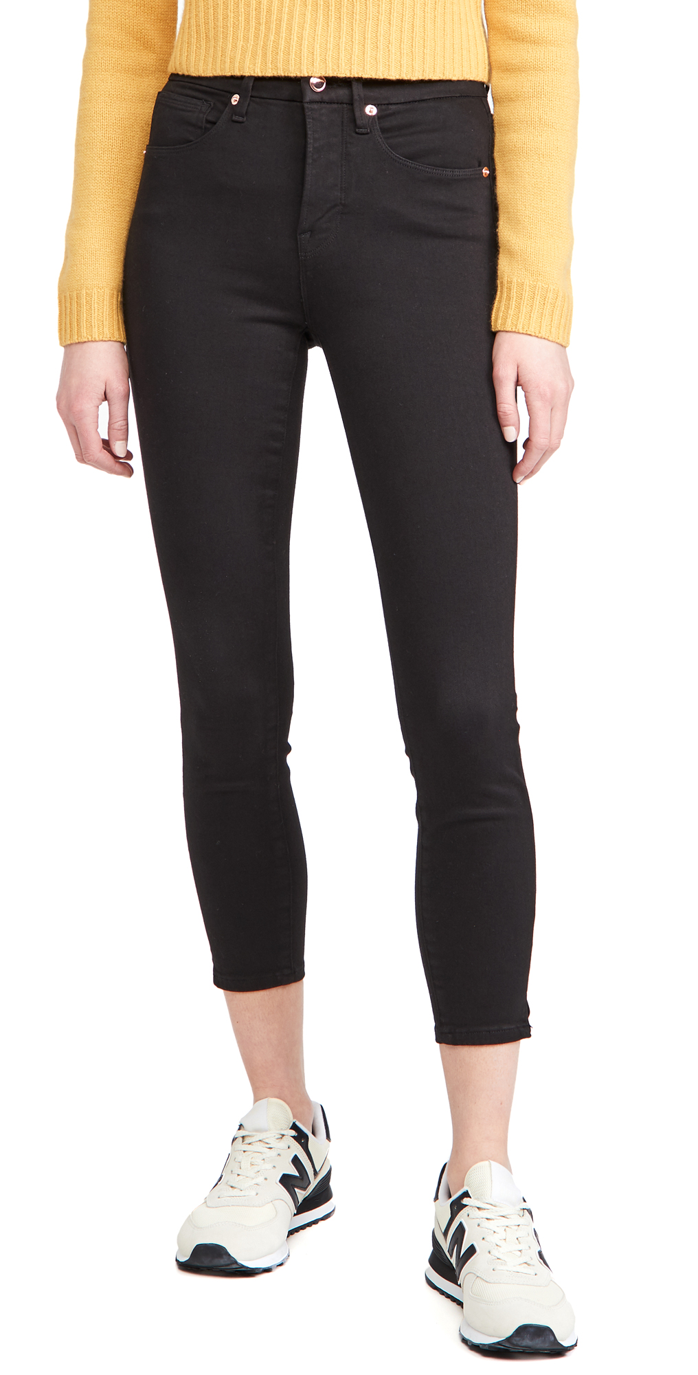 Good American Good Waist Crop Side Slit Jeans
