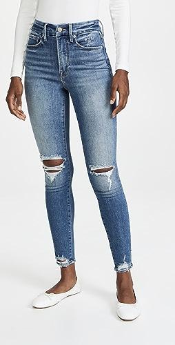 Good American - Good Waist Jeans with Tear Down Hem