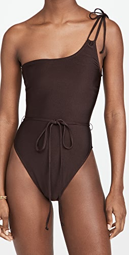 Good American - New Shine One Shoulder Swimsuit