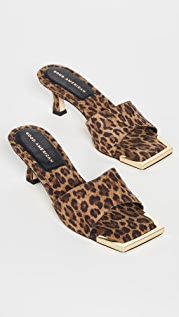 Good American Standout Square Toe Mules