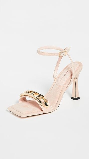 Good American Single Strap Chain Sandals