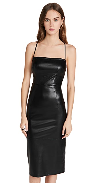 Good American Better Than Leather Vacay Dress