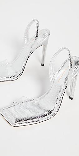 Good American - Lucite Sandals