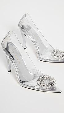 Good American Cinderella Jeweled Pumps