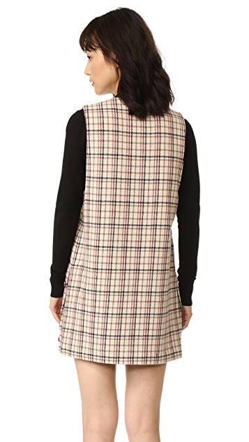 Ganni Duncan Check Dress
