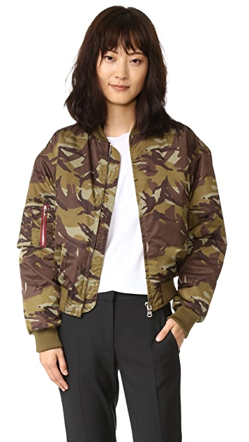 Ganni Greenwood Bomber Jacket