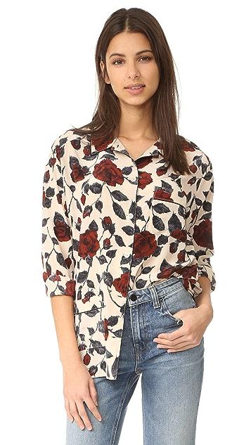 Ganni Elmira Silk Kimono Blouse