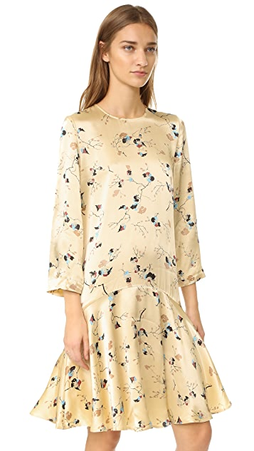 Ganni Sanders Satin Dress