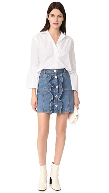 Ganni Benedict Denim Skirt