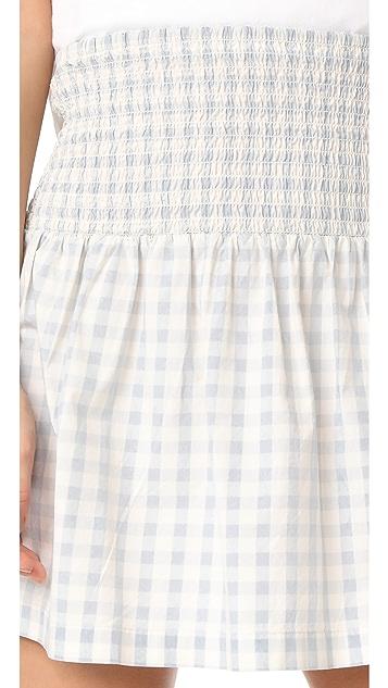 Ganni Palmer Check Skirt