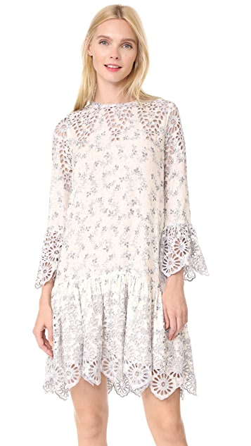 Ganni Emile Lace Dress ...