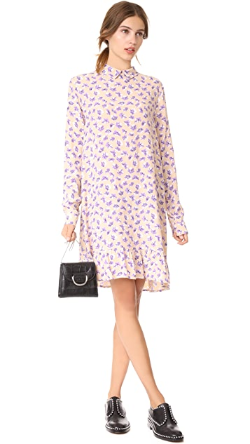 Ganni Montrose Crepe Dress