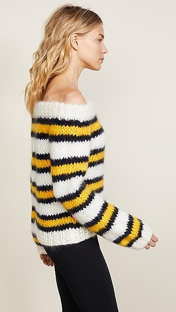 Ganni The Striped Julliard Mohair Sweater