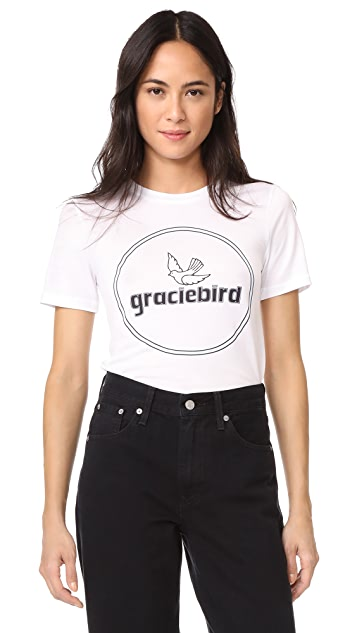Ganni Gracie Bird Tee