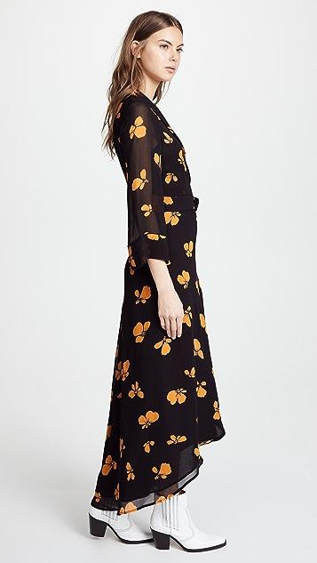 Ganni Printed Kimono Dress