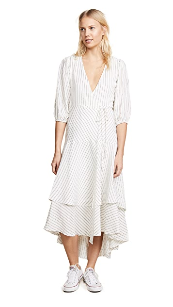 Ganni Wilkie Wrap Dress