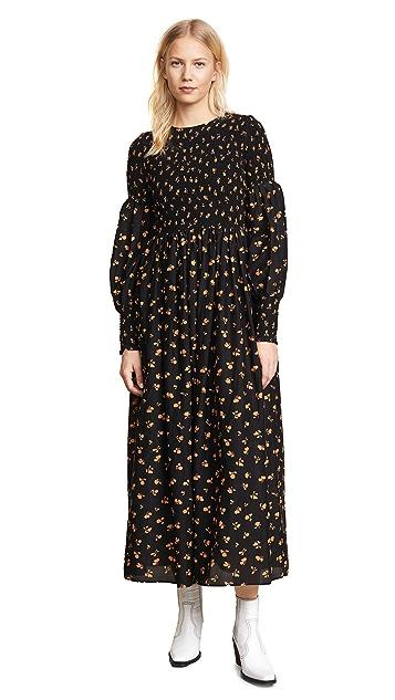 Ganni Beacon Long Sleeve Dress