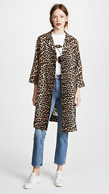 Leopard Print Jacket by Ganni