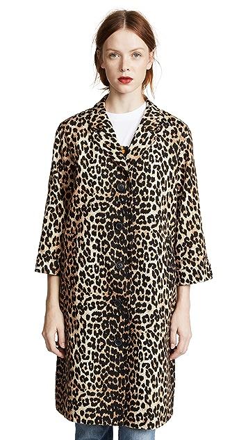 Ganni Leopard Print Jacket