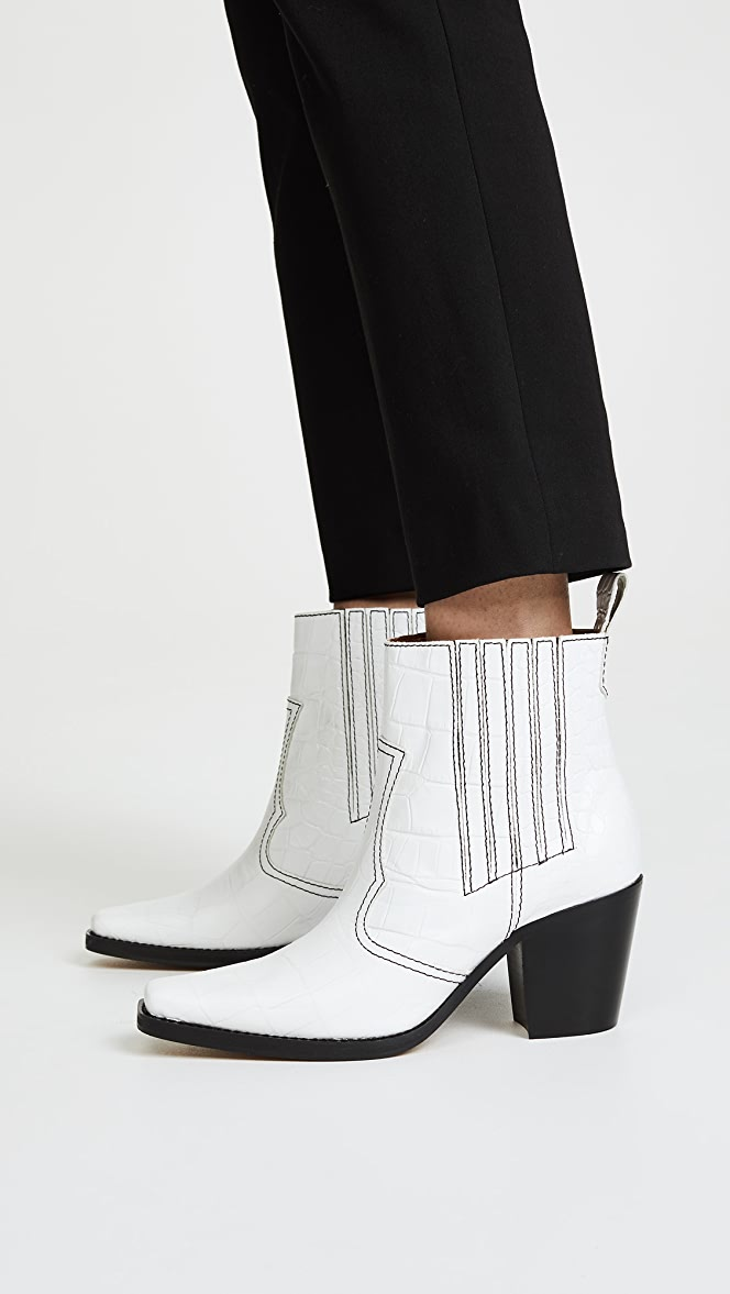 GANNI Western Boots | SHOPBOP | Black