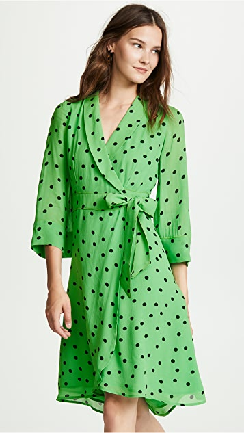 GANNI Dainty Wrap Dress