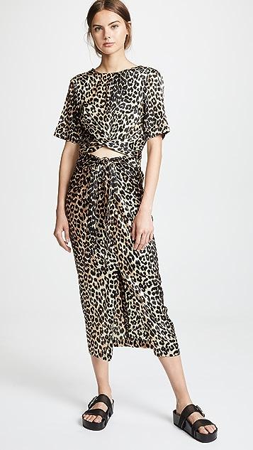 Ganni Calla Leopard Print Skirt