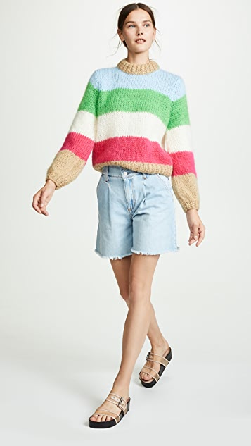 Ganni Juliad Striped Sweater