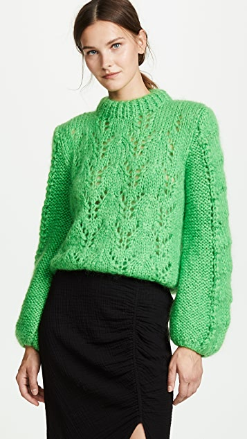 Julliard Cable Knit Sweater by Ganni