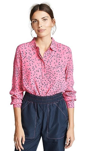 GANNI Рубашка Barra с пуговицами
