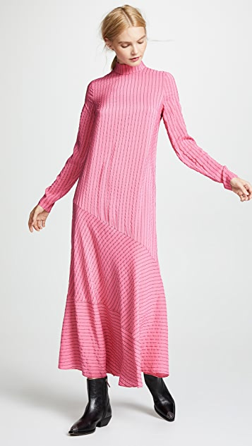 GANNI Seersucker Dress