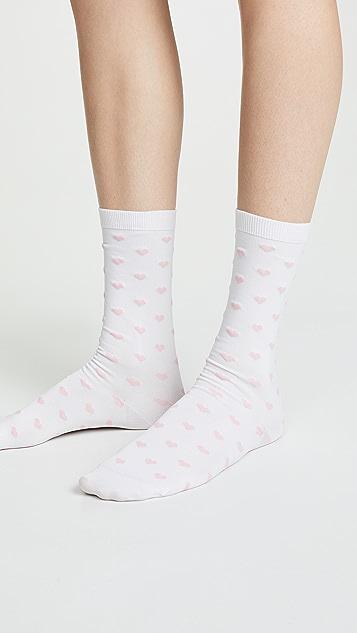GANNI Classon Hearts Socks
