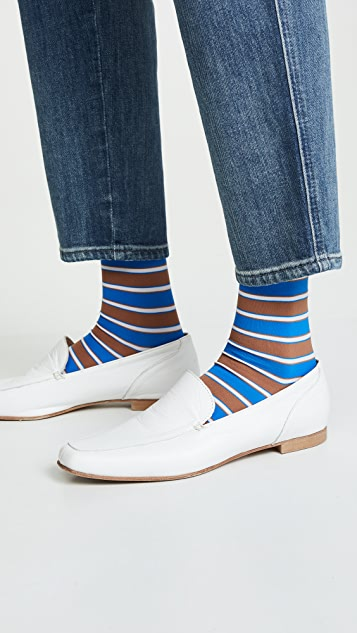 GANNI Classon Stripe Socks