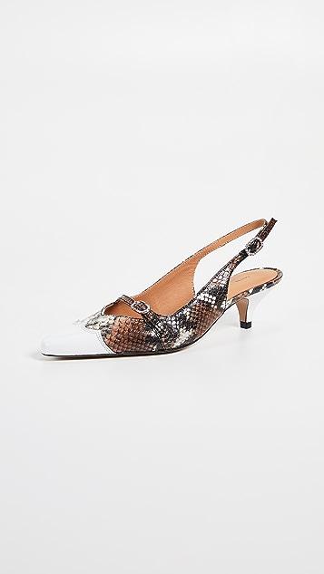 GANNI Туфли Snake на каблуке «рюмочка»