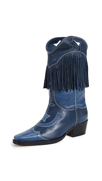 GANNI Texas Fringe Boots