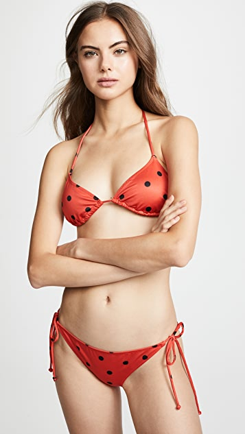 GANNI All Over Print Bikini Set